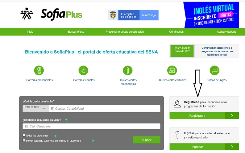 registrate en sofia blackboard