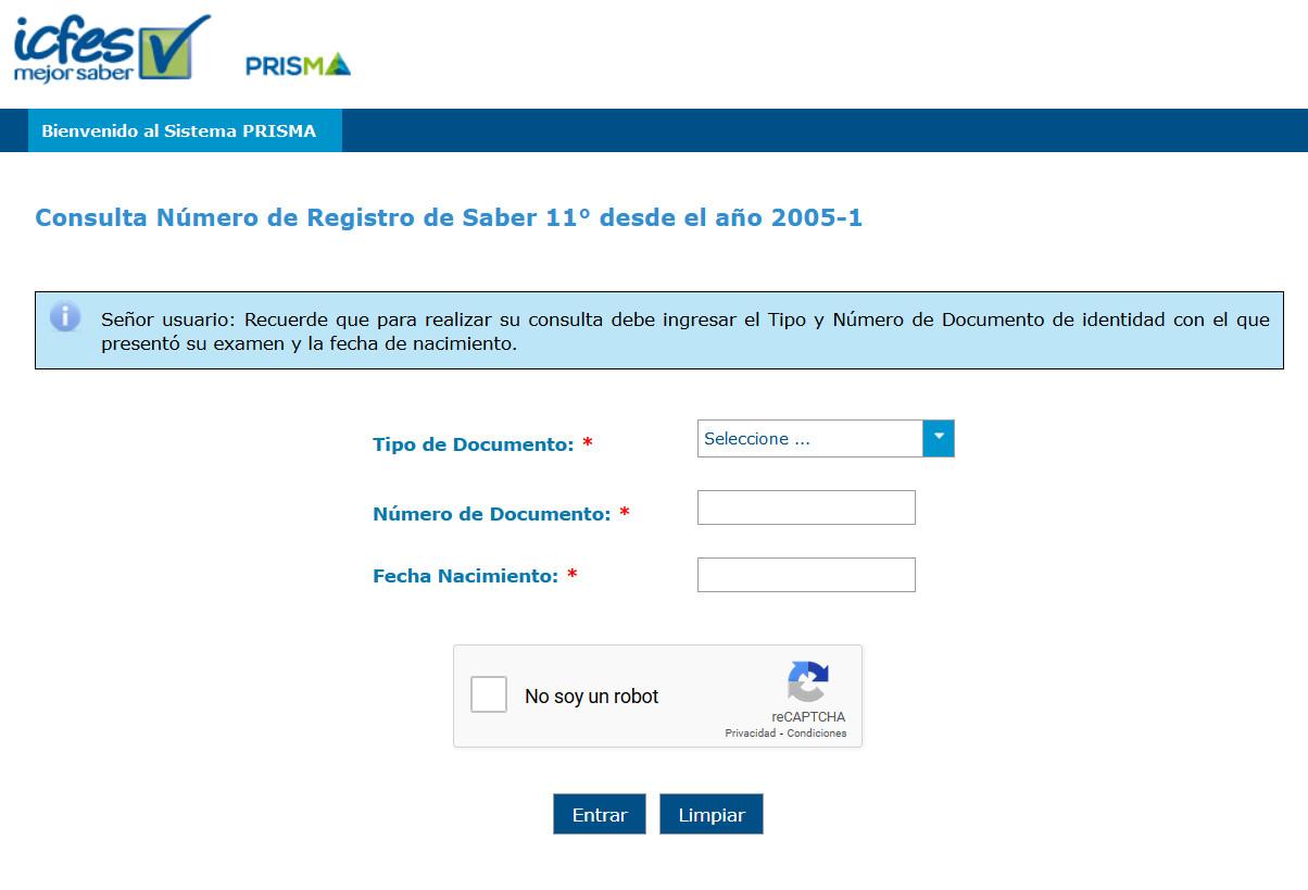 Cómo saber el numero de registro del ICFES