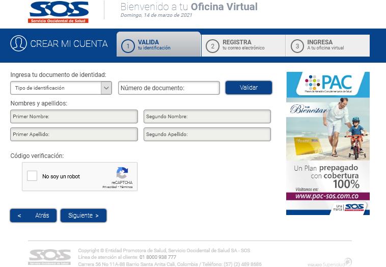 Registro EPS SOS