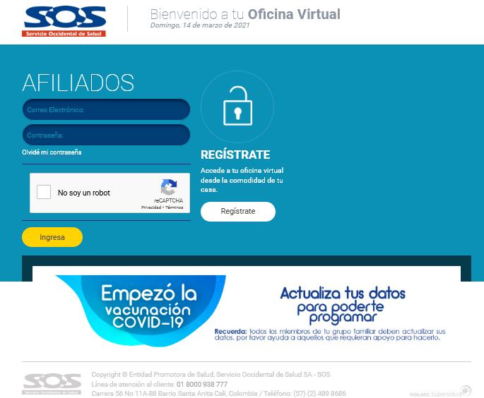 descargar Certificado de EPS SOS